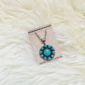 NWT Sterling Native American Turquoise Necklace